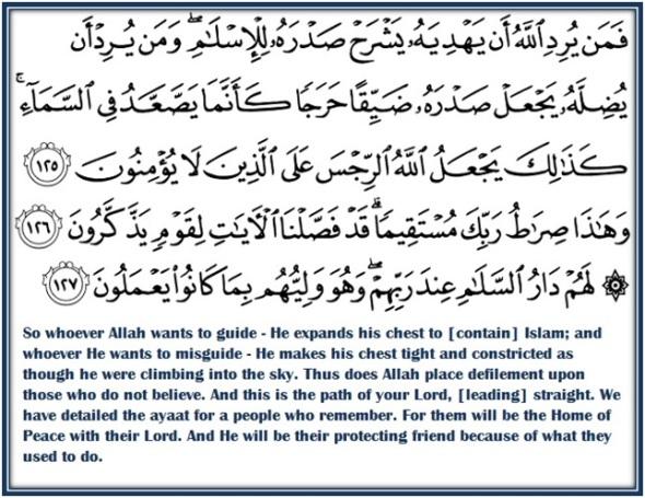 Tafseer Surah Al-Anaam Ayaat 125