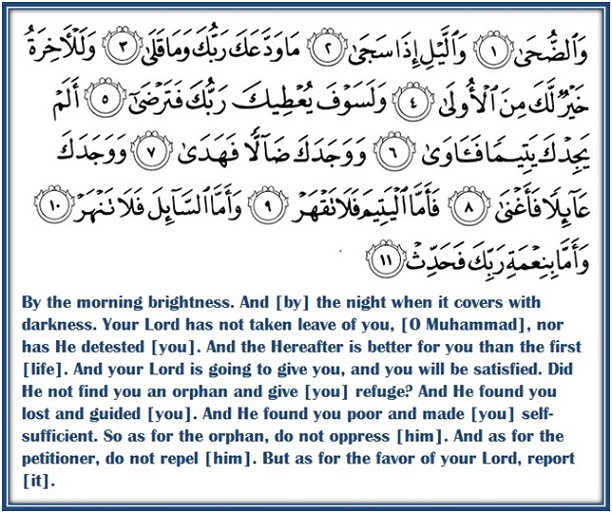 Image result for Surah Ad-Dhuha