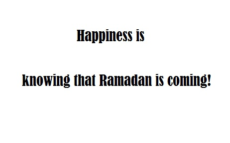 Ramadan is coming soon