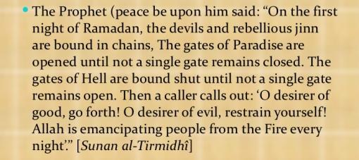 gates of paradise open in Ramadan