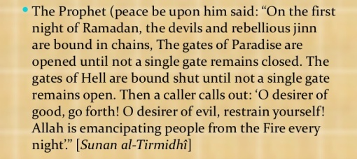 gates of paradise open in Ramadan