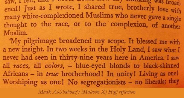 Malcolm X Hajj reflection