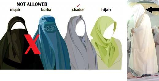 niqaab for women on Hajj