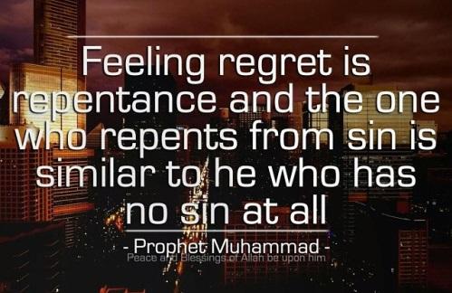 feeling regret is repentance