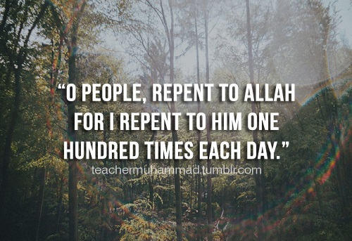 repent 100 times a day