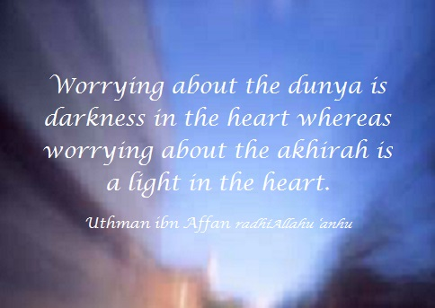 worrying about dunya