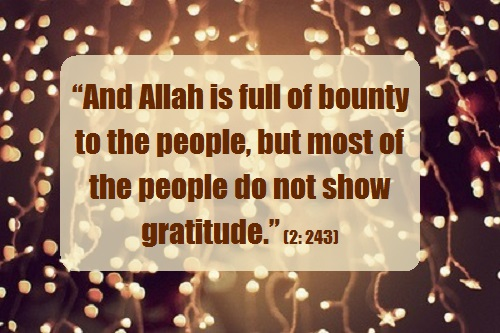 Allah is full of bounty