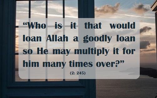 giving Allah a goodly loan