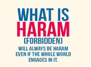 haram remains haram