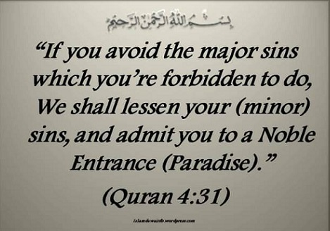if you avoid the minor sins