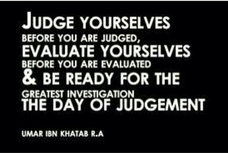 judge yourselves before you are judged