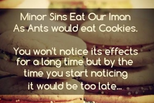 minor sins eat your emaan
