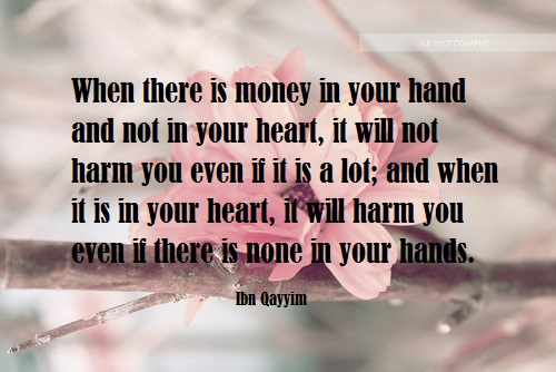 money in the hand not heart