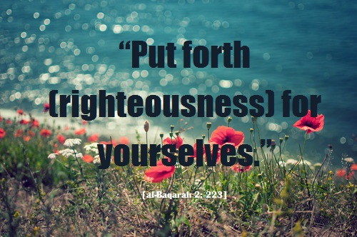 put forth righteousness for yourselves
