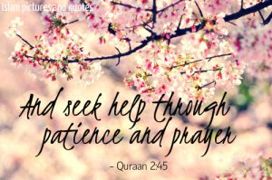 seek help through patience and prayer