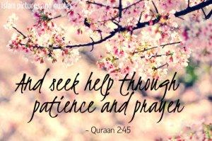 seek help through patience and prayer