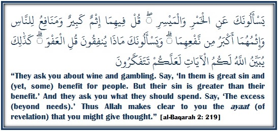 The Prohibition of Alcohol and Gambling – Verse By Verse Qur