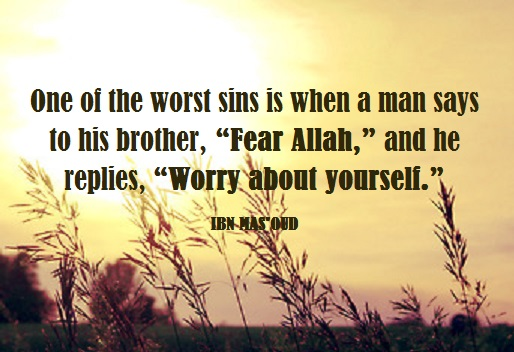 worry about yourself