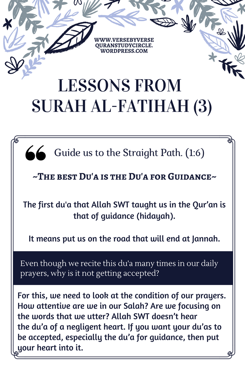 The Best Dua is the Dua for Guidance – Verse By Verse Qur'an Study