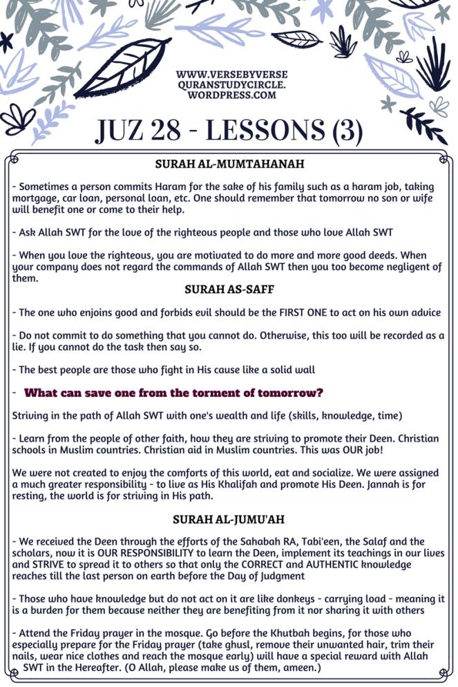 Juz 28 [Lessons] (3)