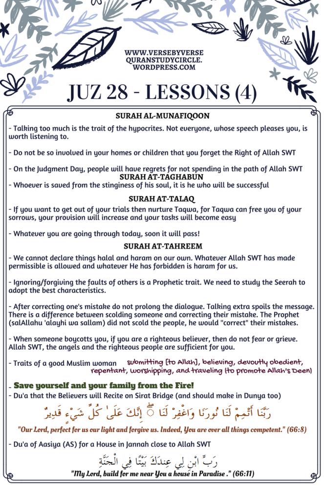 Juz 28 [Lessons] (4)
