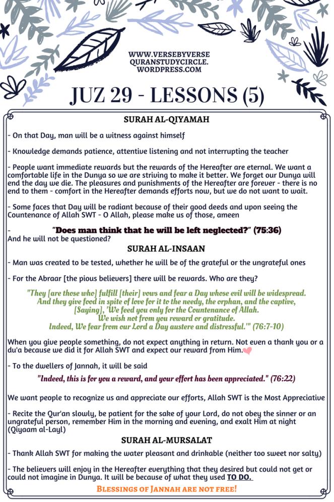 Juz 29 [Lessons] (5)