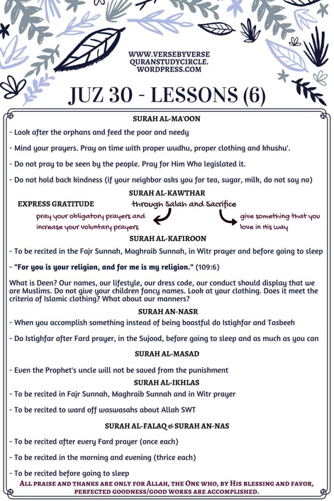 Juz 30 [Lessons] (6)