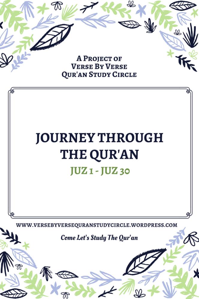 Journey through the Qur'an Juz 1 – Juz 15 – Verse By Verse