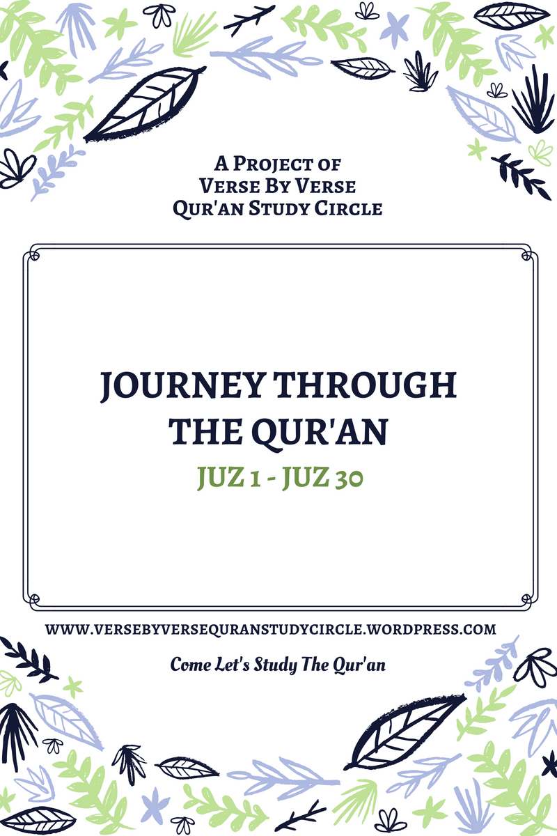Verse By Verse Qur'an Study Circle – Come Let's Study the